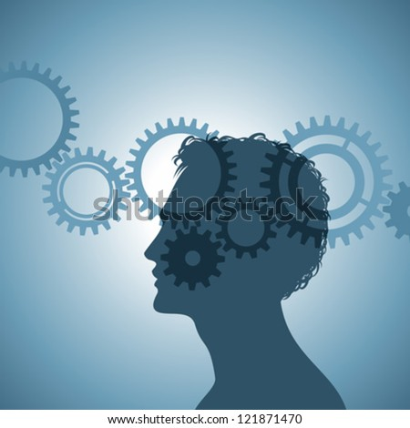 gears in the contour the human head