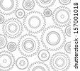Gears, industry, machinery, factory, clockwork, mechanic, production, engineering, development, construction, building vector illustration (background) - stock vector