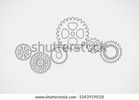 gears mechanism outline concept icon
