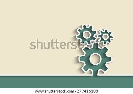 gears on a creative background for your design - stock vector