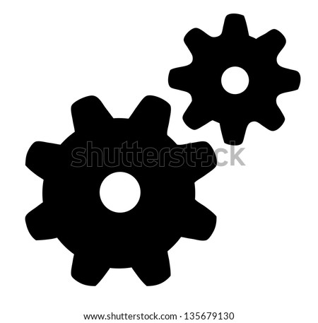 gears on a white background - stock vector