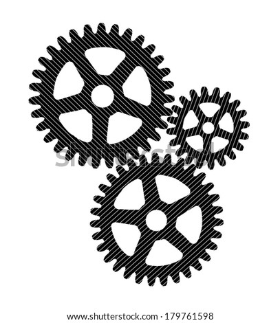 gears on a white background