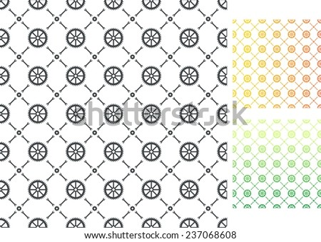 Gears patterns, vector illustration - stock vector