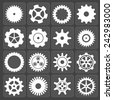 Gears shapes vector set, tooth wheels icons for web and app - stock vector