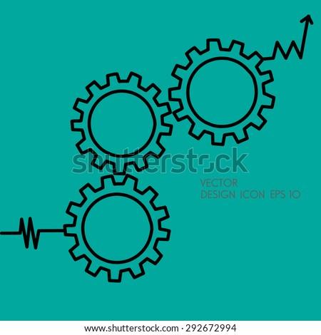 Gears symbol. Concept of PDCA method as quality continuius process improvement tool. - stock vector