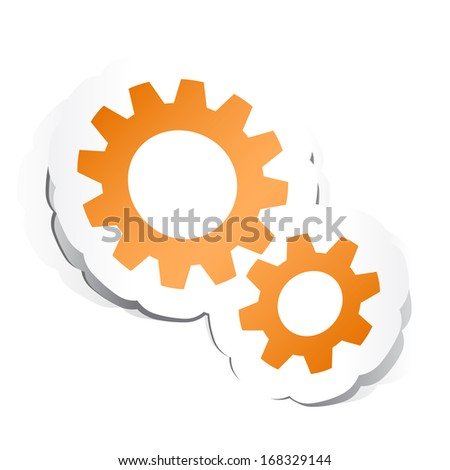 Gears Symbol with Paper Design.