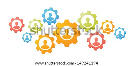 Gears teamwork concept  - stock vector