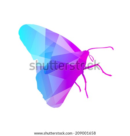 Gem Butterfly - stock vector