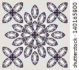 gem vector pattern, diamond, geometric design - stock vector