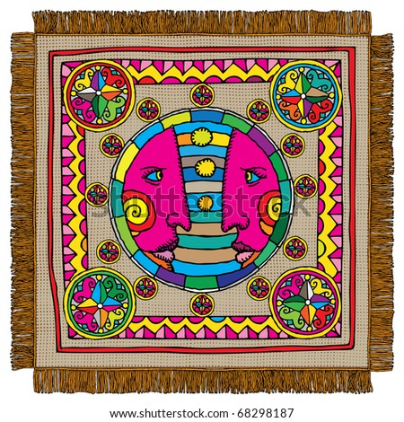 Gemini horoscope sign carpet - stock vector