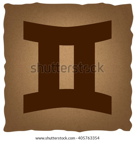 Gemini sign. Vintage effect - stock vector