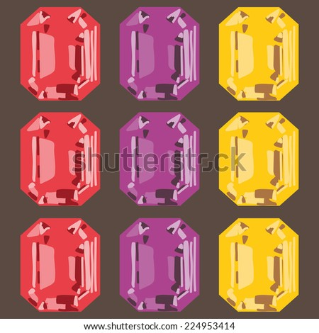 gemstone set - stock vector