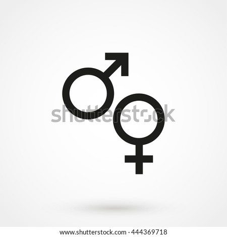 gender icon isolated on background. Modern flat pictogram, business, marketing, internet concept. Trendy Simple vector symbol for web site design or button to mobile app. Logo illustration
