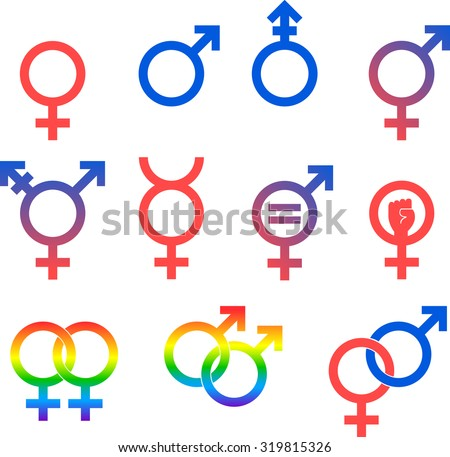 Gender Icons Set Vector Graphic Images Stock Vector 319815326