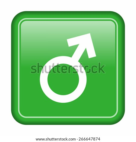 Gender, male icon - stock vector