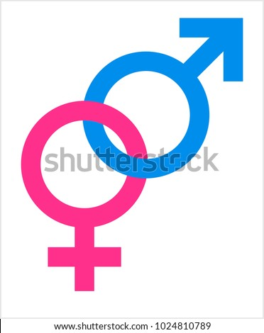 Gender Symbol Icon Male Female Biological Stock Vector 2018