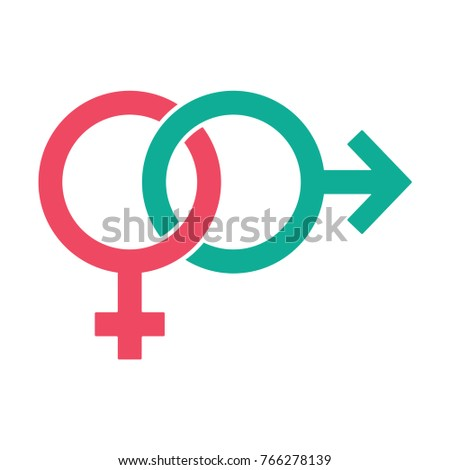 Gender Symbol Relationship Male Female Icon Stock Vector Hd Royalty