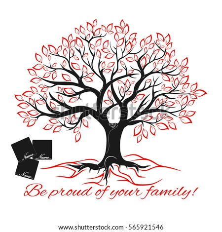 Genealogical Tree Concept Family Tree Template Stock Vector ...