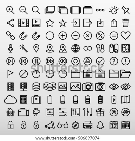 General Icons Set Vector Illustration