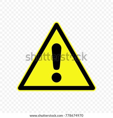 Generic Caution Warning Sign Hazard Symbols Stock Vector Hd Royalty