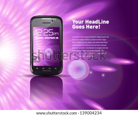 Generic Smartphone - stock vector
