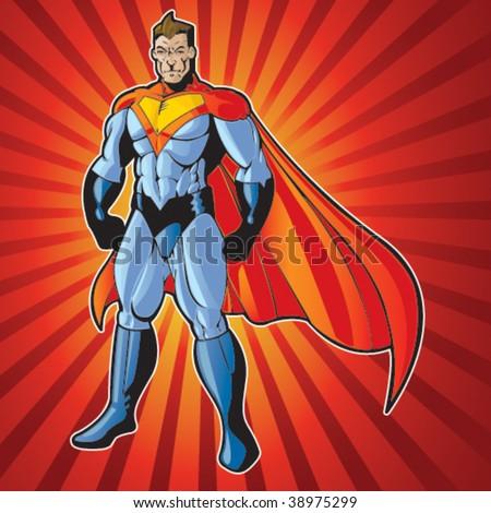 Generic super human man - stock vector