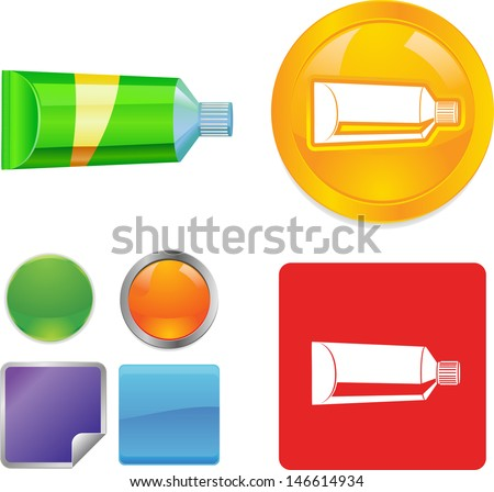 Generic tube for cream or toothpaste or glue - stock vector