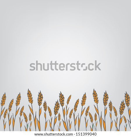 genetic modification ears, field for text - stock vector