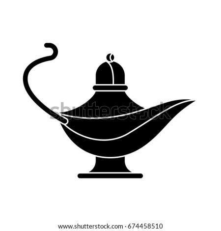 Black Genie Lamp