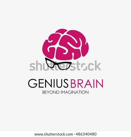 creative brain logo design vector template stock vector 489274948