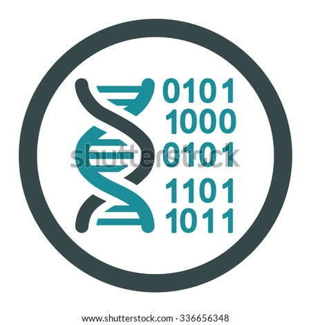 Genome Code vector icon. Style is bicolor flat rounded symbol, soft blue colors, rounded angles, white background.