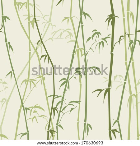 gentle background with a silhouette of bamboo stalks and green tones