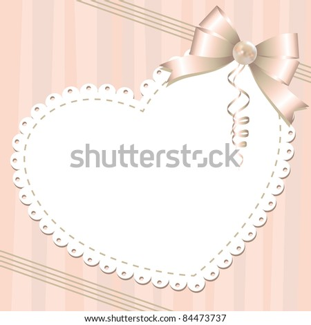 gentle background with glossy bow and pearl