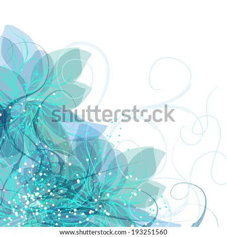 gentle frame with blue flowers - stock vector