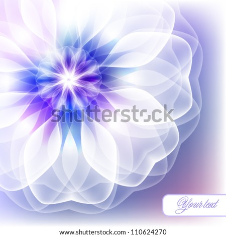 Gentle greeting card with a floral design - stock vector