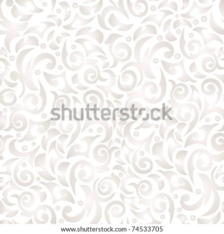 Gentle  poured seamless background with monograms - stock vector