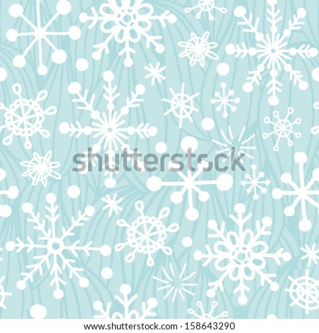 Gentle snowflakes seamless pattern. - stock vector