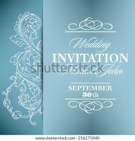Wedding Invitation Card Design Vector Border Vector – Marriage Invitation Cards Design