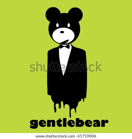 gentlebear vector - stock vector