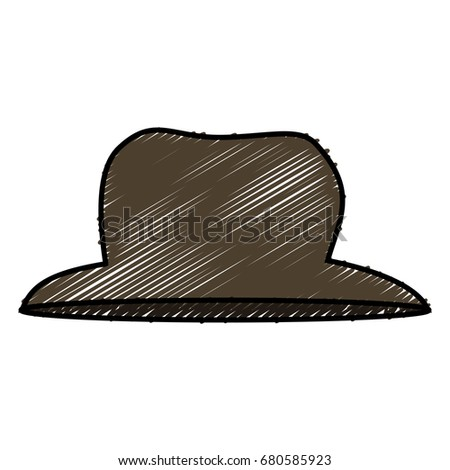 gentleman hat isolated icon
