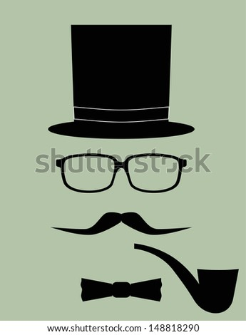 Gentleman, man, father. Vector Illustration - stock vector
