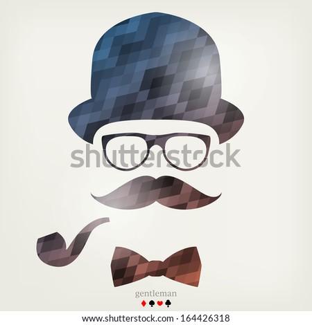 Gentleman portrait - stock vector