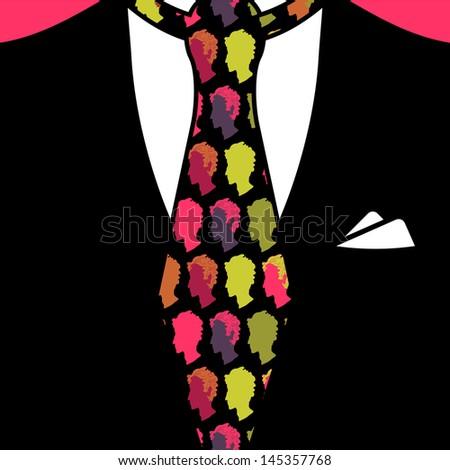 Gentleman tie pattern seamless texture - stock vector