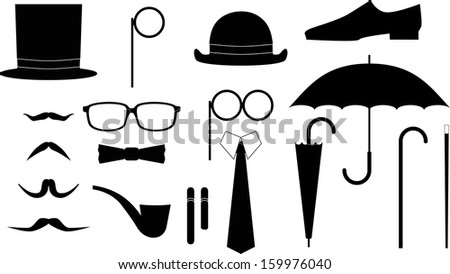 Gentleman tool kit. Vector illustration set. - stock vector