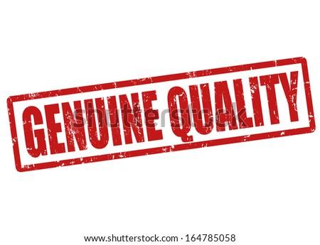 Genuine quality grunge rubber stamp on white, vector illustration - stock vector