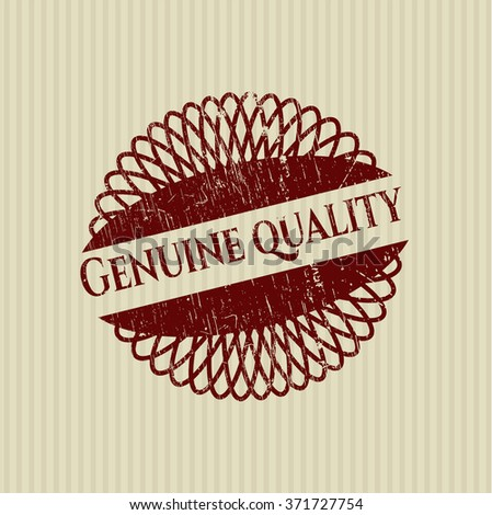 Genuine Quality grunge style stamp - stock vector