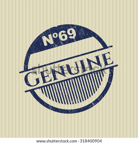 Genuine rubber grunge stamp