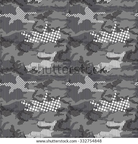 Geo Camouflage Repeat Grey