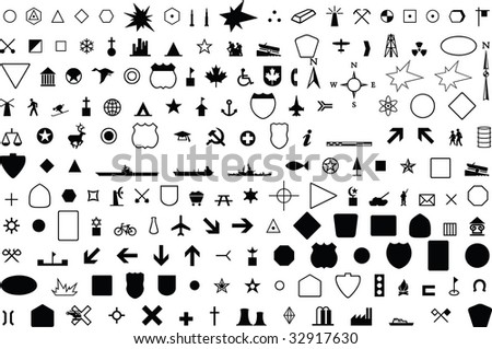 geographic symbol - stock vector