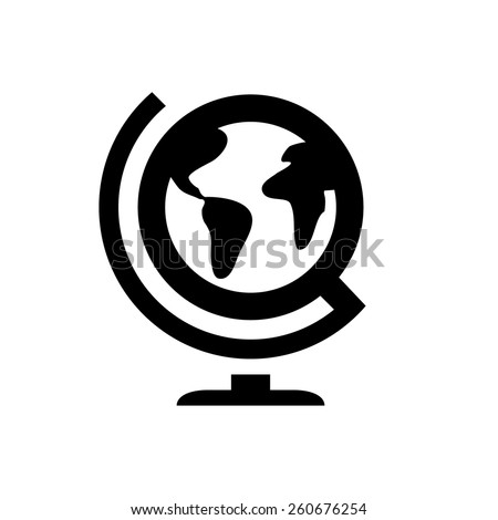Geography globus icon - stock vector